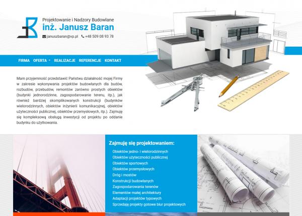 Projektowanie i Nadzory Budowlane inż. Janusz Baran